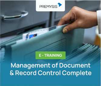 E-Training Management of Document & Record Control Complete