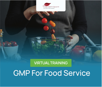 GMP Food Hygiene For Food Service Virtual Training Batch 1 - 2021