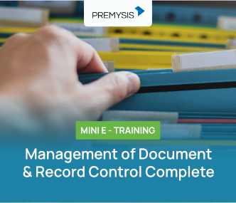 Mini E-Training Management of Document & Record Control